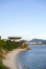 Niteroi city skyline Rio de Janeiro Brazil with beach