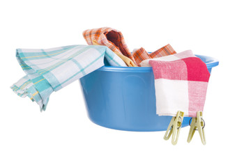 Laundry - wash-basin with clothes