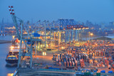 Containerterminal, Hamburger Hafen, TEU, Logistik, Hafenumschlag