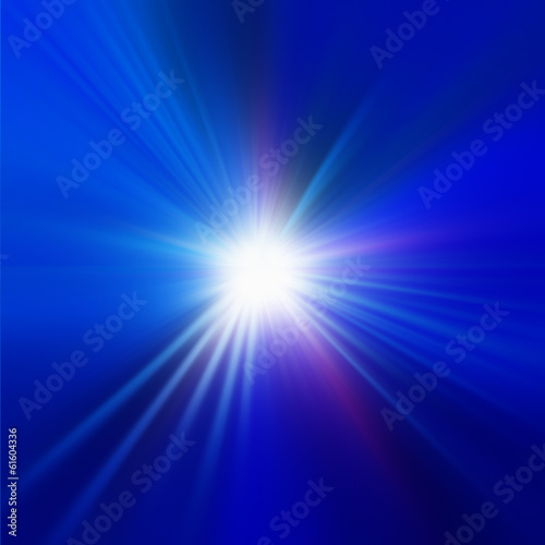Radial abstract blue background