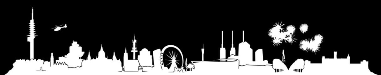 Hannover Skyline Nacht // Silhouette
