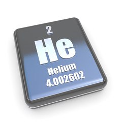 Helium symbol from periodic table on a black box