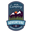 Camping adventure badge emblem - 61605127