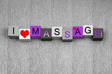 I Love Massage, sign series for the ladies being spoiled.