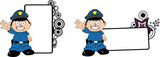 police kid cartoon copyspace0
