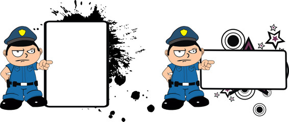 police kid cartoon copyspace01
