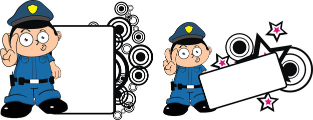 police kid cartoon copyspace00