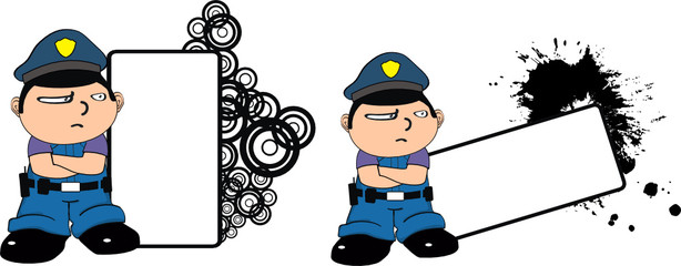 police kid cartoon copyspace