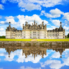 Chateau de Chambord, Unesco medieval french castle and reflectio