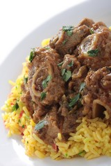 Indian Lamb curry with pilau rice