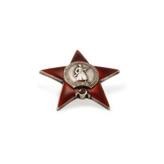 military insignia of a Second World War red star