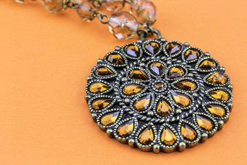 Necklace on Orange
