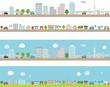 都市と住宅街のライン