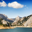 Beautiful landscape in Riaño reservoir, Leon, Spain