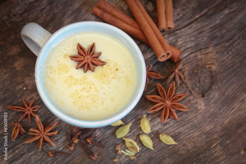 Chai tea with anise