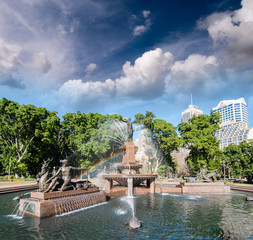 Sydney, Australia. Hyde Park and Archibald Fountain