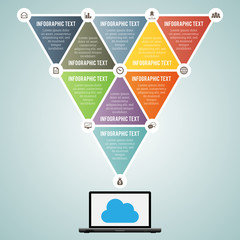 Triangle Laptop Data Infographic Elements