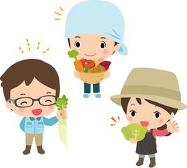 農業で働く若者たち