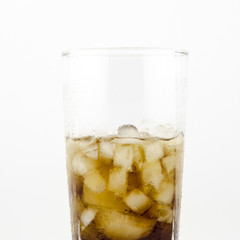 soft drink isolated on white