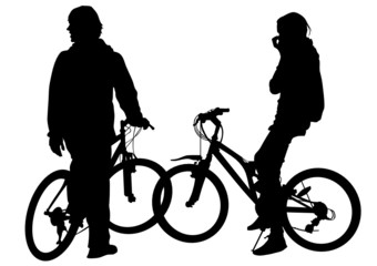 Cyclists two women