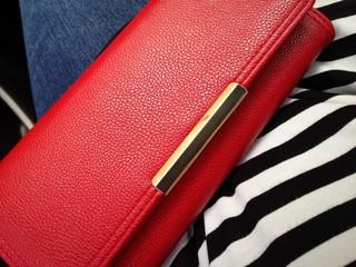cute red wallet