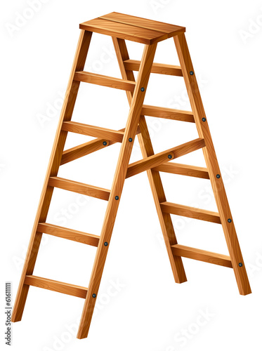 A wooden ladder