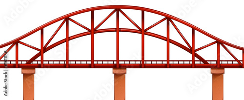 A red bridge