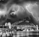Storm over Sydney Harbour Bridge, Australia