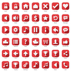 Web Internet Phone Rounded Corner Icon Collection set