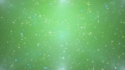 緑と星の流れ