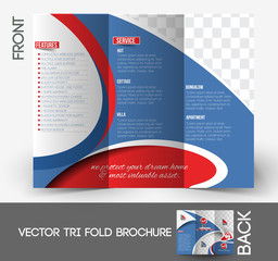Home Security Center Tri-Fold Brochure Design.
