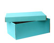 Sky blue recycle paper box, clipping path