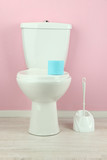 White toilet bowl in  bathroom