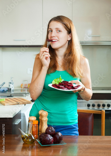 positive girl eating