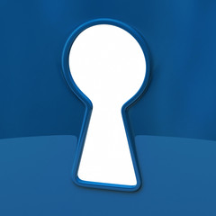 Keyhole in blue