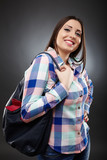 Casual woman holding a bag