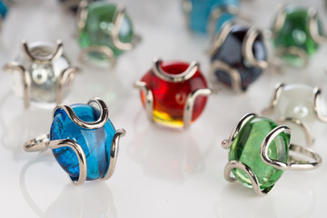 Murano Glass Ring Collection