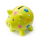 Painted ceramic piggy bank