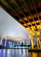 Singapore city view with freeway