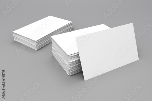 3d blank business cards