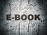 Education concept: circuit board with E-Book
