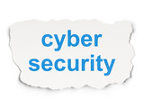Safety concept: Cyber Security on Paper background