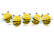 Cute bees border for Your design
