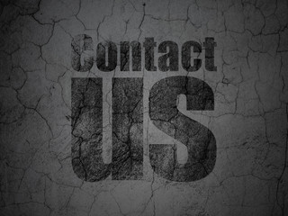 Marketing concept: Contact Us on grunge wall background