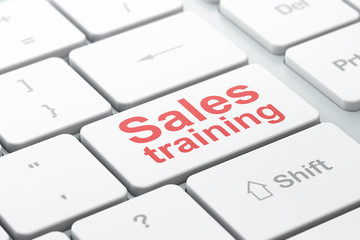 Advertising concept: Sales Training on computer keyboard