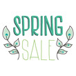 spring sale isolated on white background