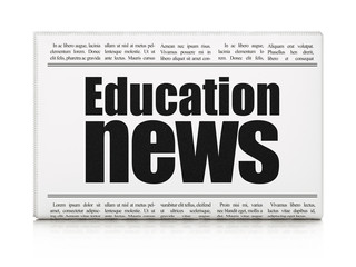 News concept: newspaper headline Education News