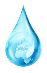 earth in water drop