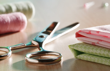 Scissors and sewing supplies