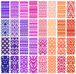 Tribal colorful lace patterns. Vector illustration. - 61617758